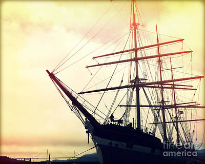 Blue Pirate Ships Landscape Photograph - San Francisco Ship I by Chris Andruskiewicz