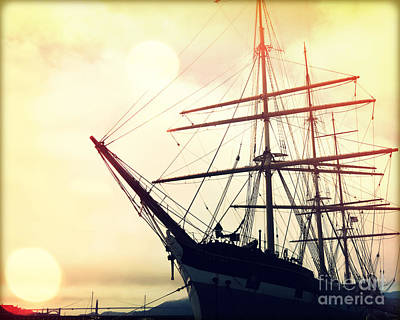 Blue Pirate Ships Landscape Photograph - San Francisco Ship II by Chris Andruskiewicz