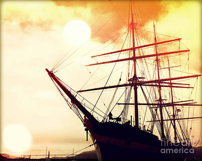 Blue Pirate Ships Landscape Photograph - San Francisco Ship IIi by Chris Andruskiewicz