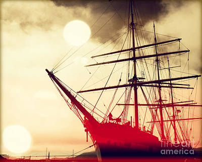Blue Pirate Ships Landscape Photograph - San Francisco Ship IIII by Chris Andruskiewicz