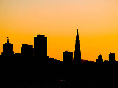 Downtown San Francisco Photograph - San Francisco Silhouette by Bill Gallagher