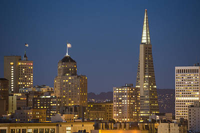 Central Coast Photograph - San Francisco Skyline At Dusk by Adam Romanowicz