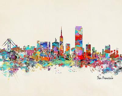 Bri Buckley Digital Art - San Francisco Skyline by Bri B
