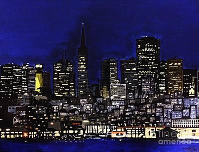 Skyline Painting - San Francisco Skyline by Charumathi Raghuraman