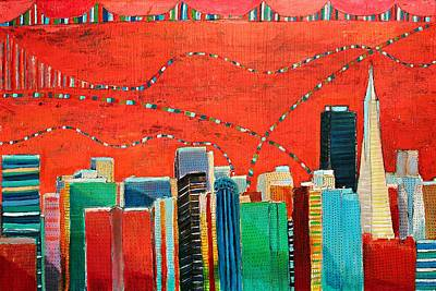 Painting - San Francisco Skyline by Habib Ayat