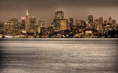 Trans Photograph - San Francisco Skyline by John Hamlon