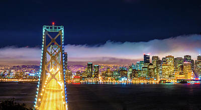 San Francisco Skyline Panorama And Art Print by Dszc