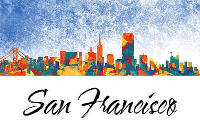 San Francisco Skyline  Art Print by Special Tees