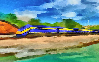 San Francisco Speed Train Art Print