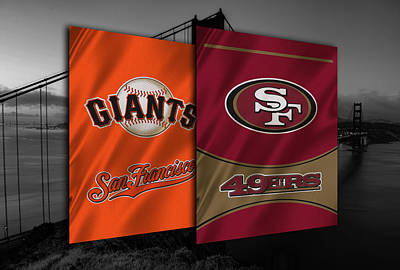 Uniforms Photograph - San Francisco Sports Teams by Joe Hamilton