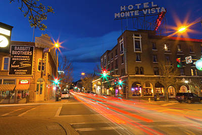 Flagstaff Wall Art - Photograph - San Francisco Street At Dusk by Chuck Haney