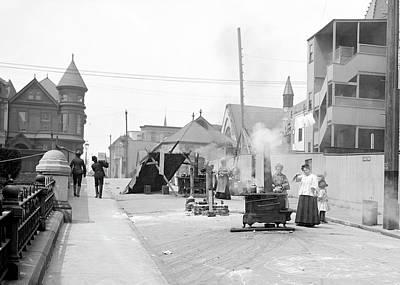 Sociology Photograph - San Francisco Street Cooking by Library Of Congress