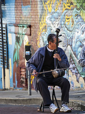 Fiddle Photograph - San Francisco Street Musician by Juli Scalzi