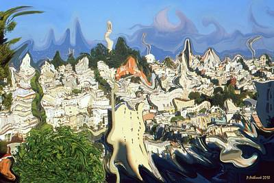 Painting - San Francisco Fantasy - Modern Art by Art America Gallery Peter Potter