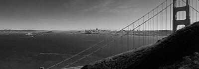 San Francisco Through The Golden Gate Bridge Art Print by Twenty Two North Photography