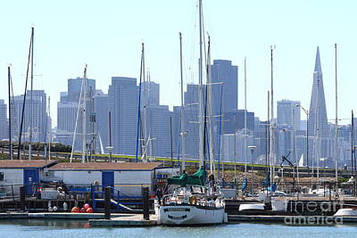 Photograph - San Francisco Through The Treasure Isle Marina 7d25458 by Wingsdomain Art and Photography