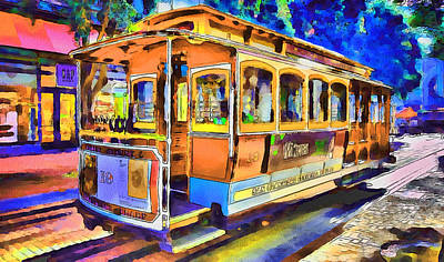 San Francisco Trams 1 Art Print