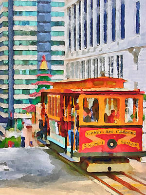 San Francisco Trams 6 Art Print