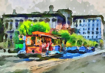 San Francisco Trams 8 Art Print