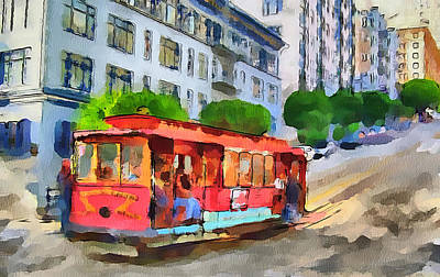 San Francisco Trams 9 Art Print