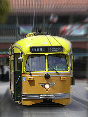 Fishermans Wharf Digital Art - San Francisco Trolley Car by Mike McGlothlen