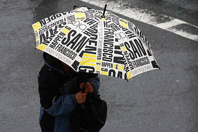 Photograph - San Francisco Umbrella by Aidan Moran