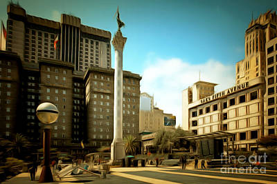 San Francisco Union Square 5d17933brun Art Print