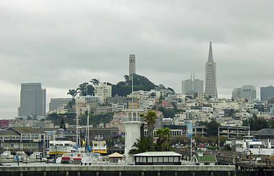 San Francisco View From Fishermans Wharf Art Print