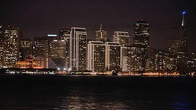 Photograph - San Francisco Waterfront At Night by Bob Wall