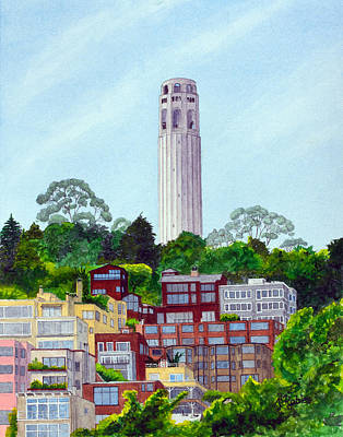 San Francisco's Coit Tower Art Print