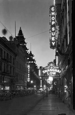 Shanghai Photograph - San Francisco�s Grant Avenue by Underwood Archives