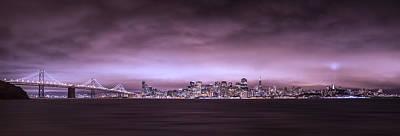 Blue Hues - San Fransisco Cityscape Panorama by Brad Scott