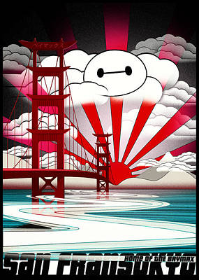 Inflatable Digital Art - San Fransokyo Home Of The Baymax by Filippo B
