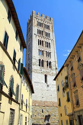 Photograph - San Frediano Tower by Valentino Visentini