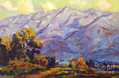 San Gabriel Mountains Art Print by David Lloyd Glover