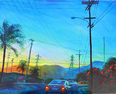 Painting - San Gabriel Rush by Bonnie Lambert