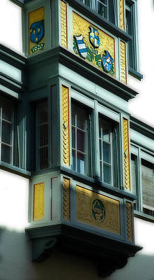 Photograph - San Gallen Switzerland Year 1620 Bay Window by Ginger Wakem