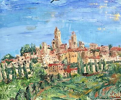 San Gimignano Painting - San Gimignano 2 by Julene Franki