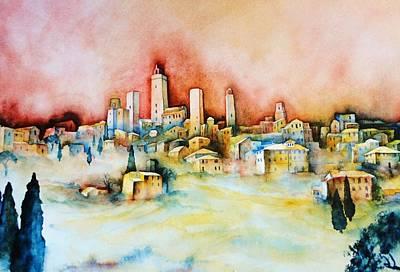 San Gimignano Painting - San Gimignano by Dagmar Helbig