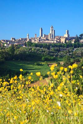 Travel Photograph - San Gimignano In Spring - Tuscany - Italy by Matteo Colombo