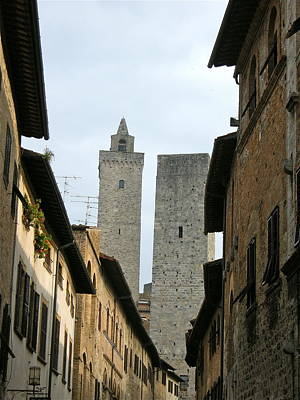 Art Print featuring the photograph San Gimignano Italy by Victoria Lakes