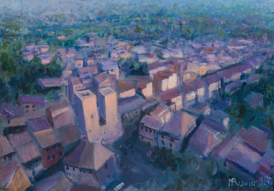 San Gimignano Art Print by Marco Busoni
