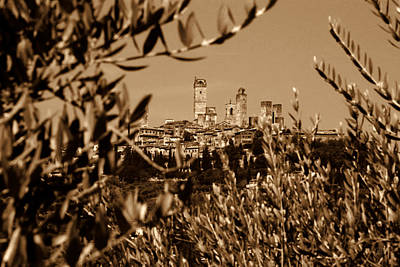Photograph - San Gimignano by Nigel Fletcher-Jones