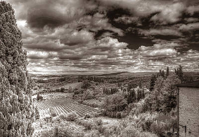 Photograph - San Gimignano View by Michael Kirk