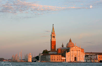 Photograph - San Giorgio At Sunset by Mariarosa Rockefeller