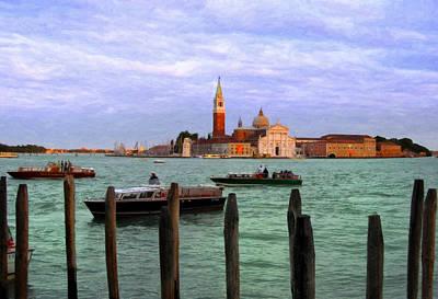 Digital Art - San Giorgio Maggiore Church Grand Canal by Sandra Selle Rodriguez