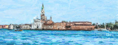 Digital Art - San Giorgio Maggiore Venice Italy by Liz Leyden