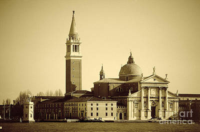 Photograph - San Giorgio Monochrome by Rod Jones