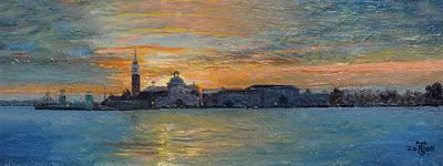Italian Landscapes Photograph - San Giorgio, Venice Lagoon, 2008 Oil On Board by Trevor Neal