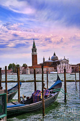 Photograph - San Giorgio With Gondola by Brenda Kean